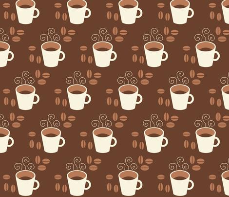 Coffee fabric by hlacerte on Spoonflower - custom fabric