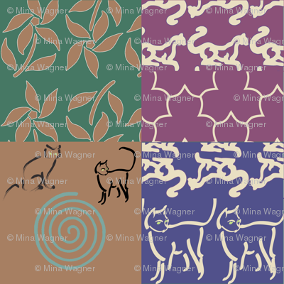 Swatch-test_cheater_quilt_copper-gypsy-skirt-with-cats