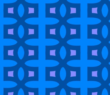 Stitches A (Blue) fabric by nekineko on Spoonflower - custom fabric