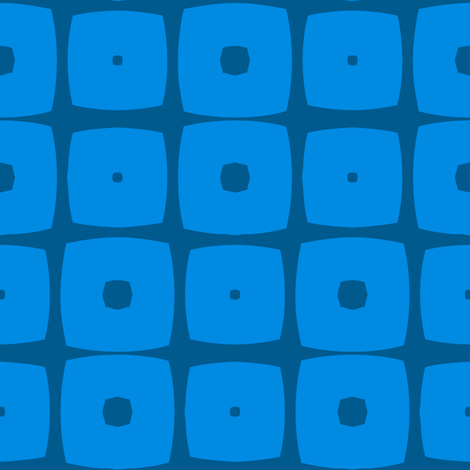 Cubes A (Blue) fabric by nekineko on Spoonflower - custom fabric