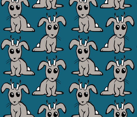 Young Jackalopes fabric by pond_ripple on Spoonflower - custom fabric