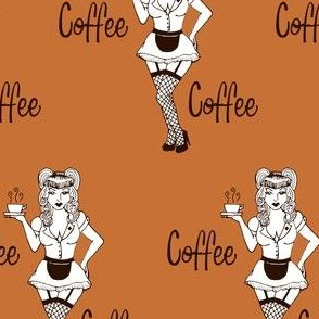 Coffee Pinup Brown