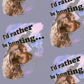 Field Spaniel Hunting Dog Fabric