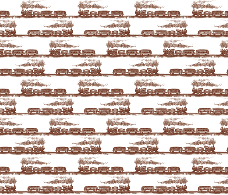 All Aboard (brown) fabric by twobloom on Spoonflower - custom fabric