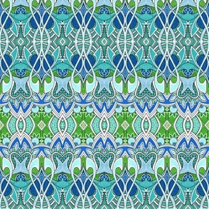 Blue Green Deco Sprout