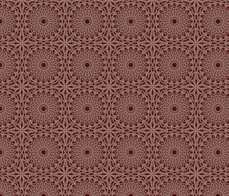 Doily_Brown fabric by strive on Spoonflower - custom fabric