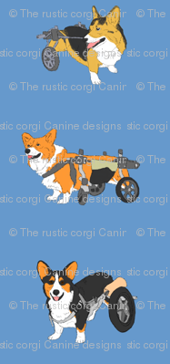 Corgi's on Wheels - blue