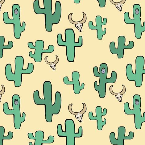 Owls & the Desert fabric by pond_ripple on Spoonflower - custom fabric
