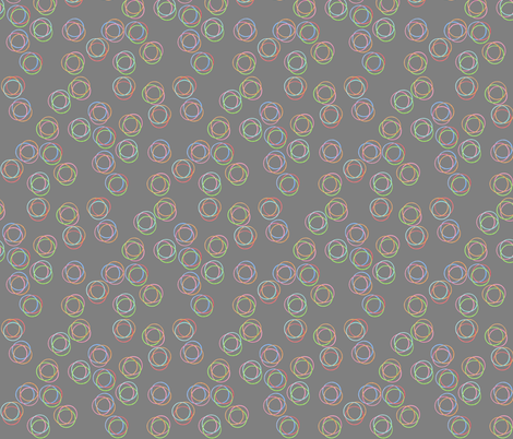 Multicolor Rings (Trios) fabric by dahliablue on Spoonflower - custom fabric