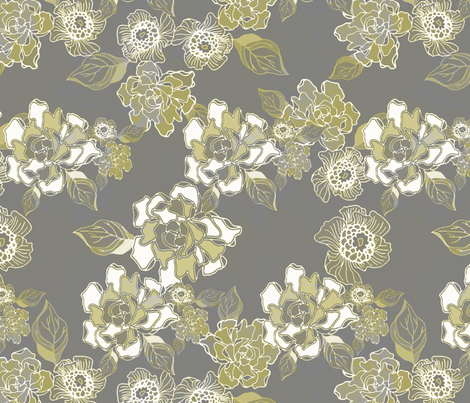 Blossoms in Moonlight fabric by joanmclemore on Spoonflower - custom fabric