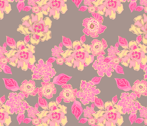 Blossoms in Pink fabric by joanmclemore on Spoonflower - custom fabric