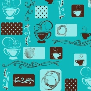 Coffee Thoughts in Teal