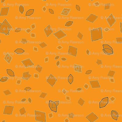 Uric Acid Crystals on Pyridium Orange