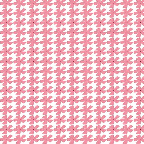 STITCH FLOWER-pink fabric by garwooddesigns on Spoonflower - custom fabric