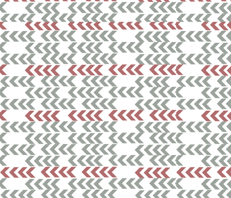 Side chevrons fabric by mollycoddle on Spoonflower - custom fabric