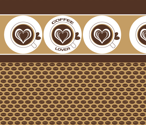 Dark Coffee Lover fabric by inscribed_here on Spoonflower - custom fabric