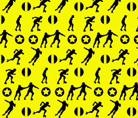 Derby Starz yellow fabric by mokacrafts on Spoonflower - custom fabric