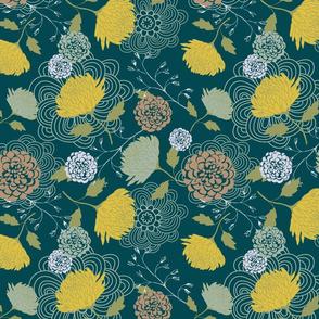 Midnight Green Chrysanthemum