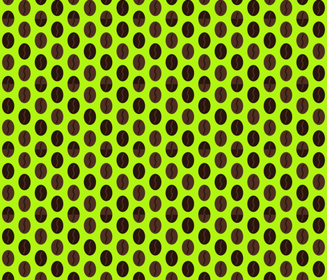 Coffee Bean Spot - Acid fabric by giddystuff on Spoonflower - custom fabric