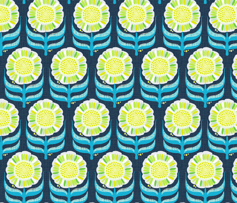"""DASY CHAIN in """"NAVY LIME"""" fabric by trcreative on Spoonflower - custom fabric"""