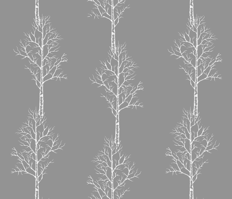 Aspen (Charcoal) fabric by chezelle on Spoonflower - custom fabric