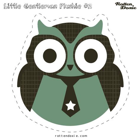Owl Plushie #2 fabric by m0dm0m on Spoonflower - custom fabric