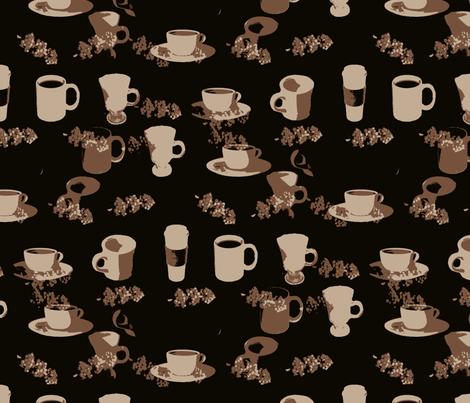 Dark Coffee fabric by farrellart on Spoonflower - custom fabric