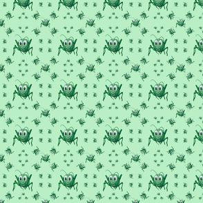 Sandi & Stevie - Green Grasshopper