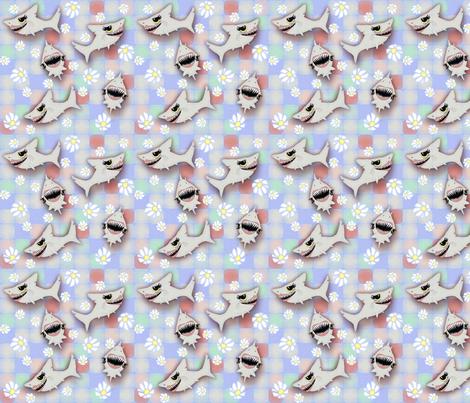 ©2011 SHARKFEST - medium fabric by glimmericks on Spoonflower - custom fabric