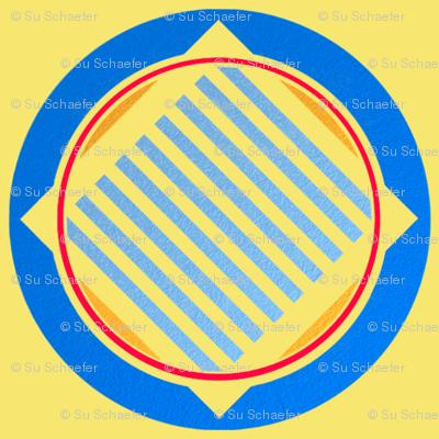 Nautical roundel on yellow by Su_G