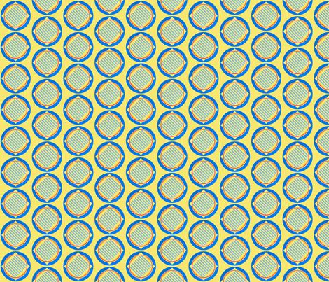 Nautical roundel on yellow by Su_G fabric by su_g on Spoonflower - custom fabric