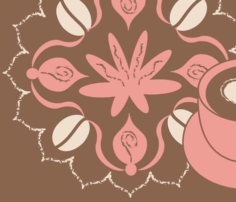 Coffee Chic fabric by bindy on Spoonflower - custom fabric