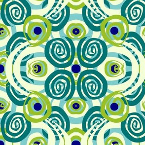 Swirl Kaleidoscope- Fjord