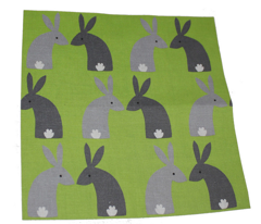 Gray bunnies green