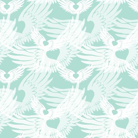 Heartwings II: Seaglass Angels fabric by penina on Spoonflower - custom fabric