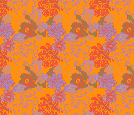 Jungle Mid Day fabric by joanmclemore on Spoonflower - custom fabric