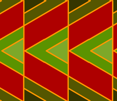 Zigzags (Red) fabric by nekineko on Spoonflower - custom fabric