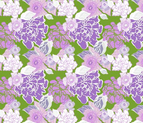 Jungle Twilight fabric by joanmclemore on Spoonflower - custom fabric
