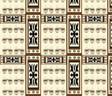 Coffee and Cream fabric by dogdaze_ on Spoonflower - custom fabric