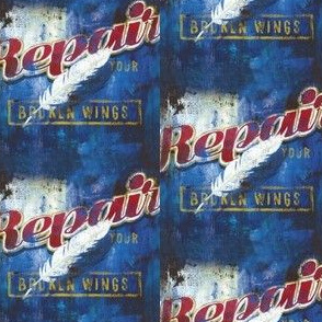 repair your broken wings vintage poster