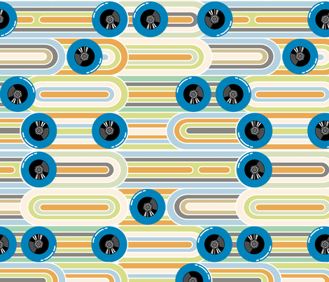 Faster fabric by thirdhalfstudios on Spoonflower - custom fabric