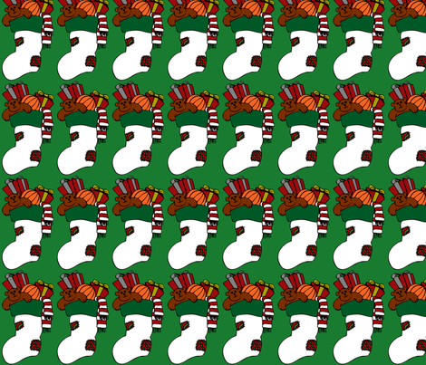 Christmas Stocking fabric by meaganrogers on Spoonflower - custom fabric
