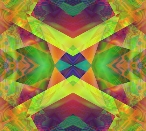 Green & Yellow Chevron fabric by itsnaart_fabrics on Spoonflower - custom fabric