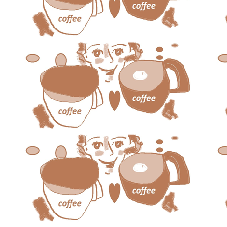 coffee_in_three_colors fabric by mailyn on Spoonflower - custom fabric