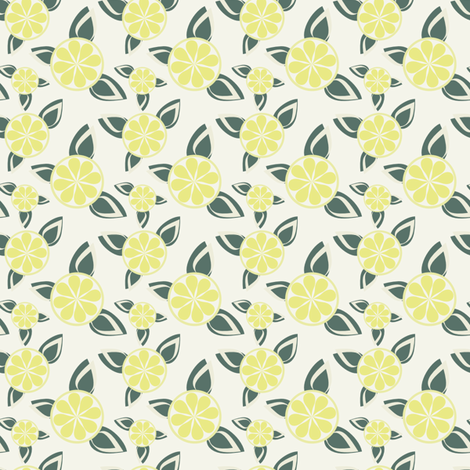 Candy Stripes Lemon fabric by eppiepeppercorn on Spoonflower - custom fabric