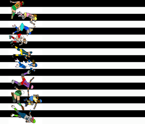 derbygirls fabric by joilakes on Spoonflower - custom fabric