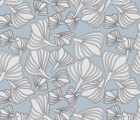 Blue Tulips fabric by leeandallandesign on Spoonflower - custom fabric