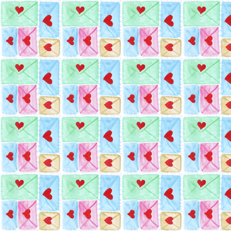 love letters fabric by mimi&me on Spoonflower - custom fabric