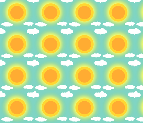 Thanks God it's summertime fabric by mimi&me on Spoonflower - custom fabric