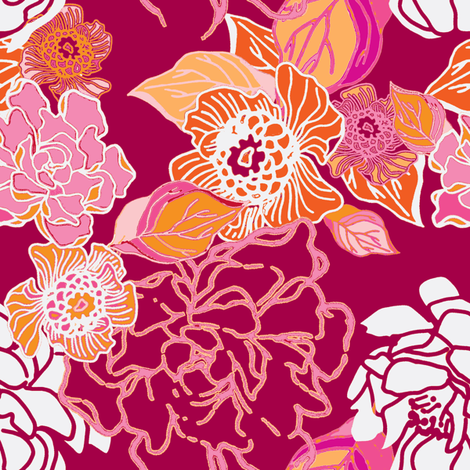 Bloom fabric by joanmclemore on Spoonflower - custom fabric